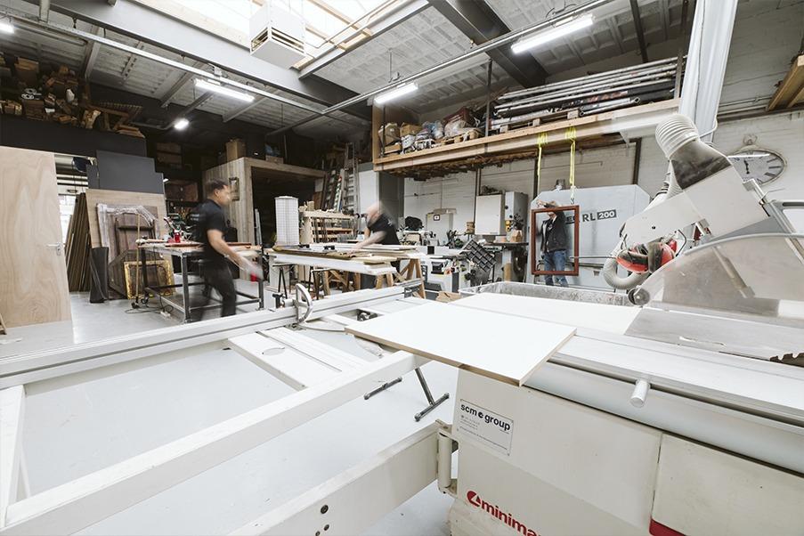 Het atelier van atelier 19 meubelmaker Rotterdam