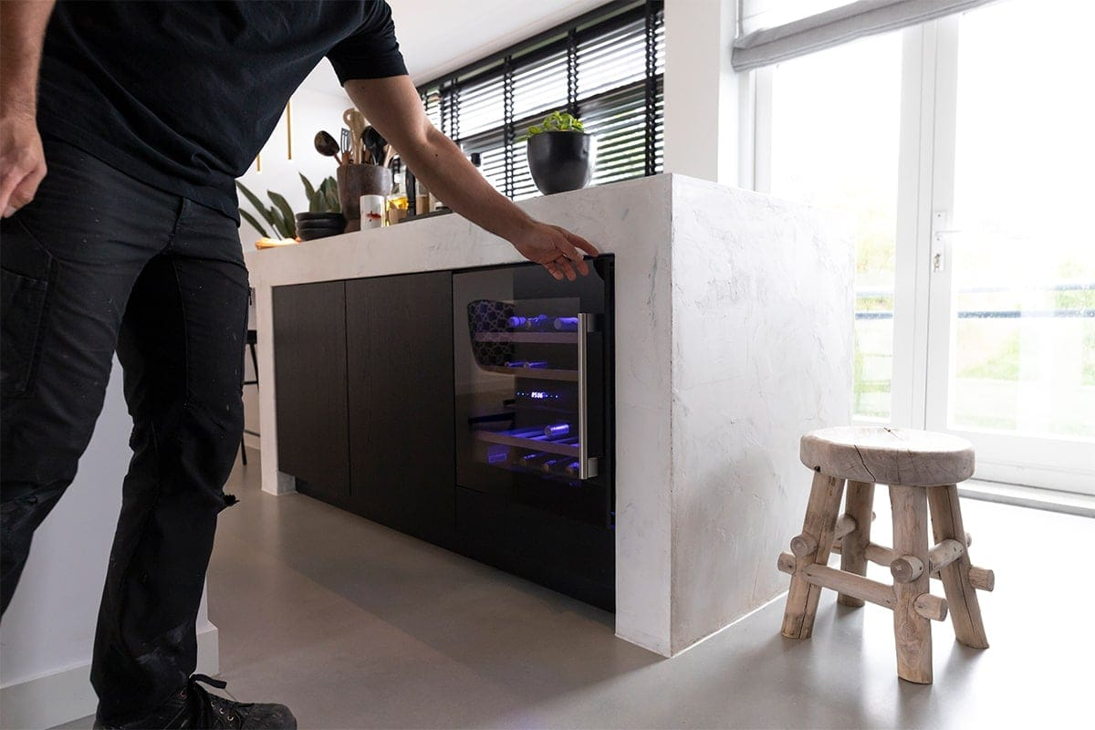 Interieurbouwer Papendrecht Die Een Moderne Zwart Witte Keukeneiland Hebben Gemaakt