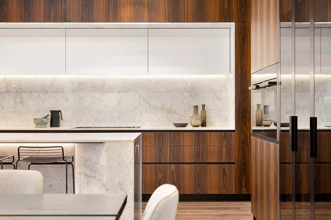 Design keuken met natuursteen